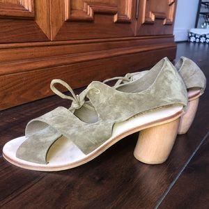 Jeffrey Campbell | Suede Tie Sandals w/ Block Heel